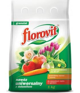 FLOROVIT (ФЛОРОВИТ) универсальное садовое удобрение-удобрение  с доломитом, 1 кг.