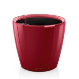 Кашпо Классико 21 LS Красное с системой полива и съемным горшком
